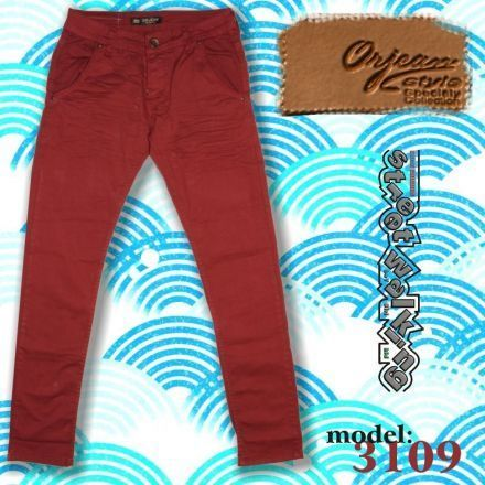 Nadrág Orjean 3109 Red Stretch Slim