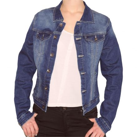 Dzseki Red Type A1592 Stretch Jeans Jacket