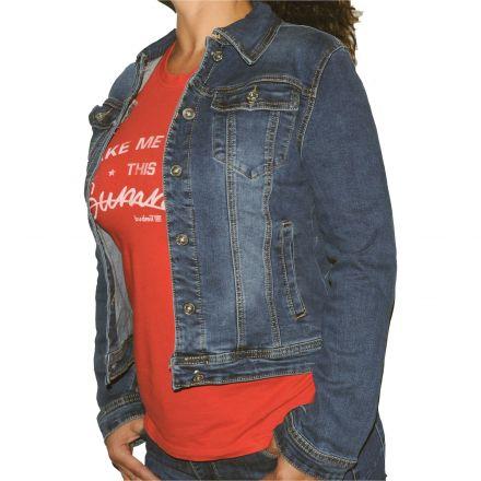 Dzseki Redress Jeans Wear 707 Ohio stretch Jacket for Woman 1ae849720c